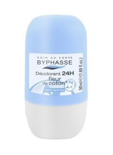BYPHASSE 24H DEO ROLL ON SWEET COTTON FLOWER 50ML FOR WOMEN