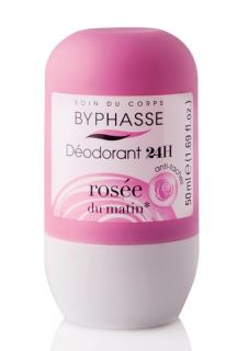 BYPHASSE 24H DEO ROLL ON SWEET ROSEE DU MATIN 50ML FOR WOMEN