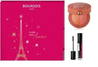 RIMMEL GIFT SET  BOURJOIS TWIST UP THE VOLUME 52 MASCARA +  LIPSTICK ROUGE EDITION VELVET 10