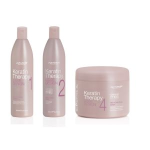 Alfaparf Keratin Therapy Deep Cleansing Shampoo 500ml + Keratin Mask 500ml + Smoothing Fluid 500ml