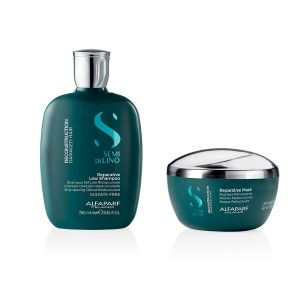 Alfaparf Semi Di Lino Reconstruction Reparative Shampoo 250ml + Mask 200ml