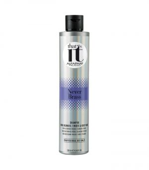 ALFAPARF THAT'S IT NEVER BRASS SHAMPOO FOR COOL BLONDES, GREY AND WHITE HAIR 250ml