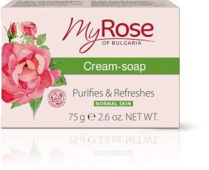 CREAM-SOAP WITH BULGARIAN ROSE EXTRACT MY ROSE 75gr
