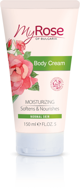 BODY CREAM WITH NATURAL BULGARIAN ROSA DAMASCENA EXTRACT MY ROSE 150ml