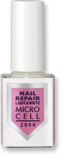 ЗАЗДРАВИТЕЛ ЗА MЕКИ И ЧУПЛИВИ НОКТИ NAIL REPAIR LIGHT & WHITE MICROCELL 2000 12ml