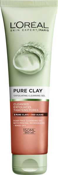 ЕКСФОЛИРАЩ ГЕЛ LOREAL PURE CLAY EXFOLIATING CLEANSING GEL 150ML