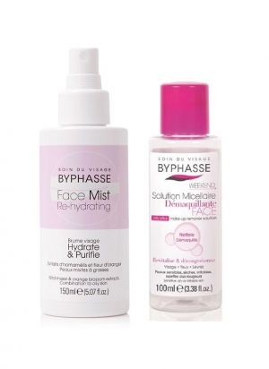 PROMO PACK BYPHASSE HYDRATING FACE MIST FOR OILY AND COMBINATION SKIN 150ML + MICELLAR MAKEUP REMOVER 100ML