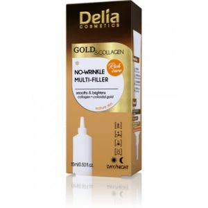 Филър ПРОТИВ БРЪЧКИ Delia Gold & Collagen No-Wrinkle Multi - Filler Cream Concentrate 15ml