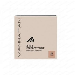 Пудра и фон дьо тен Manhattan 2 in 1 Perfect Teint Powder & Make Up 9g (РАЗЛИЧНИ НЮАНСИ)
