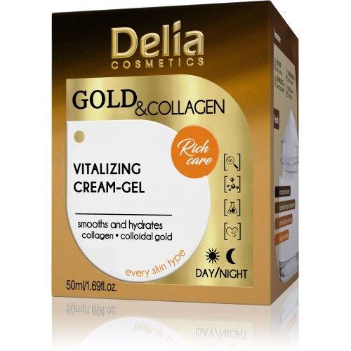 Delia Gold & Collagen Vitalizing Cream - Gel Витализиращ..