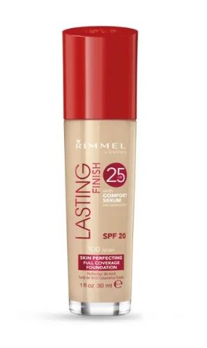 ФОН ДЬО ТЕН RIMMEL LASTING FINISH 25 HOUR FOUNDATION WITH COMFORT SERUM SPF20 30ml 100 Ivory