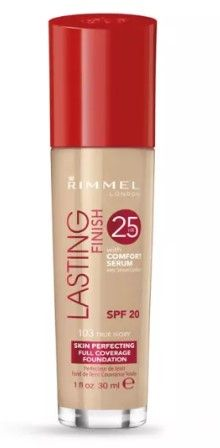 ФОН ДЬО ТЕН RIMMEL LASTING FINISH 25 HOUR FOUNDATION WITH COMFORT SERUM SPF20 30ml 103 True Ivory