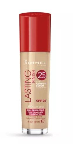 ФОН ДЬО ТЕН RIMMEL LASTING FINISH 25 HOUR FOUNDATION WITH COMFORT SERUM SPF20 30ml 200 Soft Beige