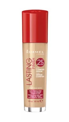 ФОН ДЬО ТЕН RIMMEL LASTING FINISH 25 HOUR FOUNDATION WITH COMFORT SERUM SPF20 30ml 203 True Beige