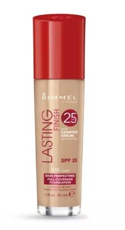 ФОН ДЬО ТЕН RIMMEL LASTING FINISH 25 HOUR FOUNDATION WITH COMFORT SERUM SPF20 30ml 300 Sand