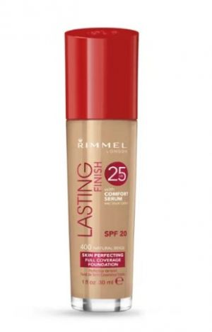 ФОН ДЬО ТЕН RIMMEL LASTING FINISH 25 HOUR FOUNDATION WITH COMFORT SERUM SPF20 30ml 400 Natural Beige