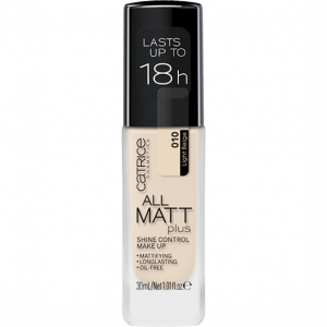 Дълготраен матиращ фон дьо тен Catrice All Matt Plus Shine Control Make Up Foundation 30ml 10 LIGHT BEIGE