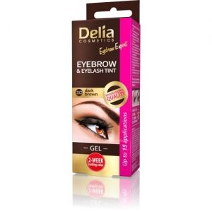 Гел - Боя за вежди и мигли Delia Expert Instant Eyebrow & Lashes Tint - Gel 3.0 Dark Brown