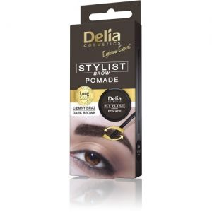 Помада за вежди Delia Eyebrow Stylist Brow Pomade 4g Dark Brown