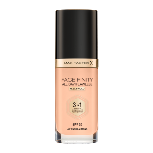 Фон дьо тен Max Factor Facefinity All Day Flawless 3 in 1 45 Warm Alomnd