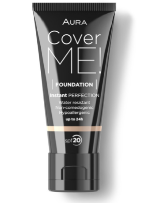Фон дьо тен Aura Cover me! Liquid foundation SPF20 30ml 101 Alabaster