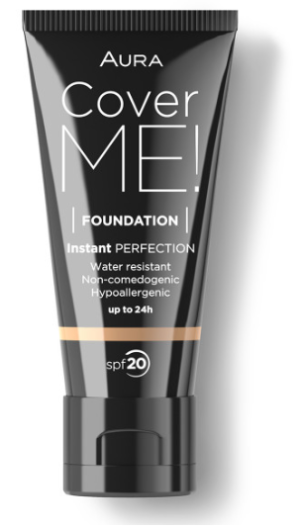 Фон дьо тен Aura Cover me! Liquid foundation SPF20 30ml 102 Ivory
