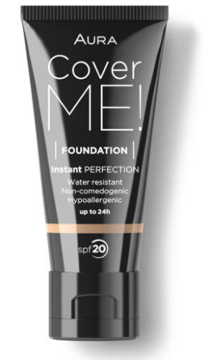 Фон дьо тен Aura Cover me! Liquid foundation SPF20 30ml 104 Beige
