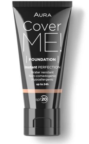 Фон дьо тен Aura Cover me! Liquid foundation SPF20 30ml 105 Cool Beige