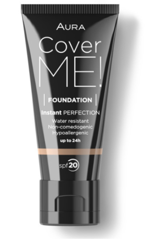 Фон дьо тен Aura Cover me! Liquid foundation SPF20 30ml 106 Chocolate