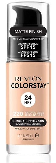 Фон дьо тен за комбинирана до мазна кожа Revlon Colorstay Foundation for Combination/Oily Skin SPF 15 30ml 220 Natural Beige