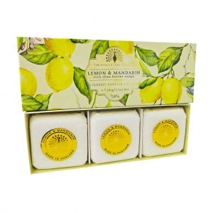 Луксозен Сапун в кутия The English Soap Company Lemon & Mandarine Soap 3x100g