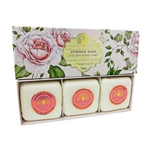Луксозен Сапун в кутия The English Soap Company Summer Rose Soap 3x100g