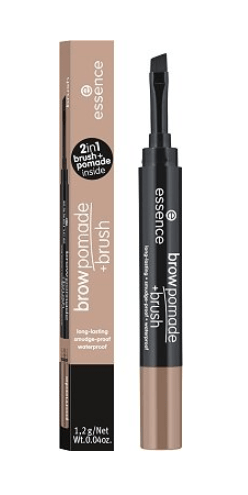 Помада за вежди с четка Essence Long-Lasting Smoodge-Proof Waterproof Brow Pomade + Brush 1.2g 01 Blonde