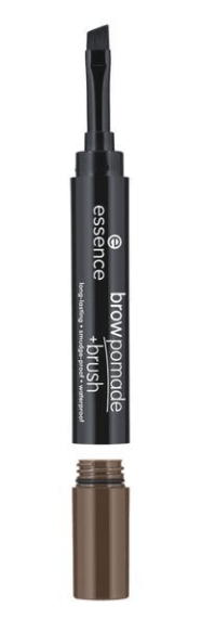 Помада за вежди с четка Essence Long-Lasting Smoodge-Proof Waterproof Brow Pomade + Brush 1.2g 04 Dark Brown